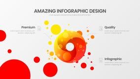 calibre d'illustration de vecteur de présentation de 3 d'option analytics de cercle Rapport infographic stupéfiant de statistique illustration de vecteur