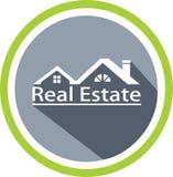 Calibre d'immobiliers et de logo illustration de vecteur