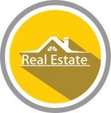 Calibre d'immobiliers et de logo illustration libre de droits
