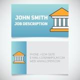Calibre d'impression de carte de visite professionnelle de visite avec le logo de tribunal illustration libre de droits