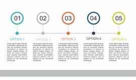 Calibre d'Infographic avec cinq étapes illustration stock