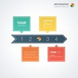 Calibre d'Infographic avec l'endroit pour votre contenu illustration de vecteur
