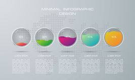 Calibre d'Infographic avec 5 options illustration stock