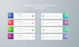 Calibre d'Infographic avec 8 options illustration libre de droits