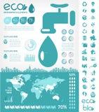 Calibre d'Infographic de conservation de l'eau Photos libres de droits