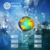 Calibre d'Infographic pour le design d'entreprise, triangle Images stock