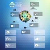 Calibre d'Infographic pour le design d'entreprise, triangle Image libre de droits