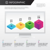 Calibre d'Infographics Image stock