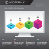 Calibre d'Infographics Images stock