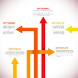 Calibre d'Infographics avec des flèches. Photos stock