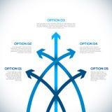 Calibre d'Infographics avec des flèches. Images stock