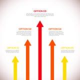 Calibre d'Infographics avec des flèches. Photo stock