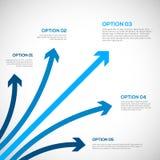 Calibre d'Infographics avec des flèches. Photographie stock libre de droits