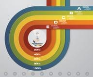 calibre d'infographics de 5 étapes Dirigez la bannière avec 5 options pour votre présentation d'affaires Image libre de droits