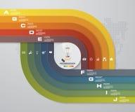calibre d'infographics de 10 étapes Dirigez la bannière avec 10 options pour votre présentation d'affaires Images stock