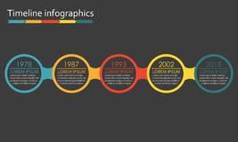 Calibre d'infographics de chronologie Éléments de conception de vecteur Photo libre de droits