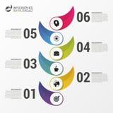 Calibre d'infographics de chronologie Conception moderne colorée Photos libres de droits
