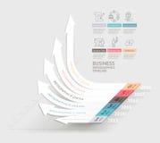 Calibre d'infographics de flèches d'affaires peut être employé pour le déroulement des opérations Photographie stock