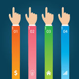 Calibre d'Infographics et affaires plats d'éléments de Web, ordinateur, concept de commercialisation Photographie stock