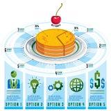 Calibre d'Infographics, morceau d'idée de tarte, illustration de vecteur illustration libre de droits