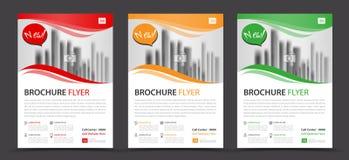 Calibre d'insecte de brochure d'affaires, rapport annuel, conception de couverture illustration libre de droits