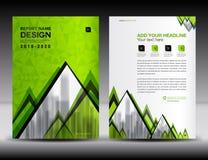 Calibre d'insecte de brochure d'affaires dans A4 la taille, conception verte de couverture Photo stock