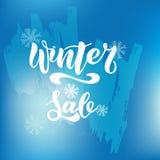 Calibre d'insecte de vente d'achats d'hiver avec le lettrage Fond mignon à la mode Affiche, carte, label, conception de bannière illustration stock