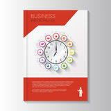 Calibre d'insecte Magazine de couverture calibre de brochure Business illustration stock