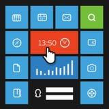 Calibre d'interface de tuile de couleur de Web Image libre de droits