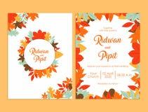 Calibre d'invitation de mariage avec de belles fleurs illustration libre de droits
