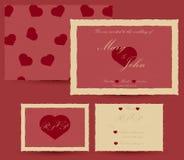 Calibre d'invitation de mariage Rétro effet Images libres de droits