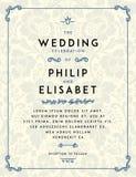 Calibre d'invitation de mariage de vintage illustration de vecteur