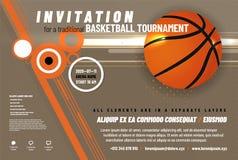 Calibre d'invitation de tournoi de basket-ball illustration stock