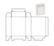 Calibre d'une boîte simple Papier ou carton coupé illustration stock