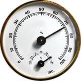 Calibre da temperatura e da umidade fotografia de stock