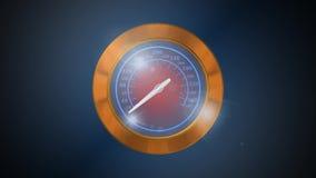 Calibre da velocidade, animação video estoque