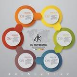 calibre de 6 étapes pour la présentation d'affaires Photographie stock libre de droits