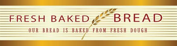 Calibre de bannière de boulangerie, élément décoratif de cadre de frontière avec le gol Photo stock