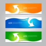 Calibre de bannière de conception d'abrégé sur vecteur Image libre de droits