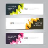 Calibre de bannière de conception d'abrégé sur vecteur Images stock