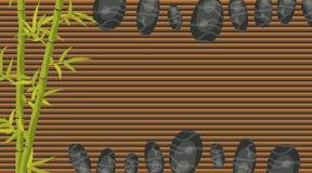 Calibre de bannière de salon de station thermale Roches de bambou et de caillou Image stock