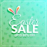 Calibre de bannière de vente de Pâques avec des oreilles de lapin Images stock