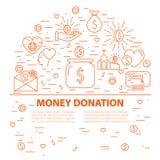 Calibre de bannière de donation Photos stock