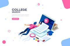 Calibre de bannière de page Web d'université illustration de vecteur