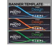 Calibre de bannière pour le designe d'affaires photo stock
