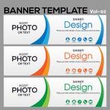 Calibre de bannière pour le designe d'affaires Image stock
