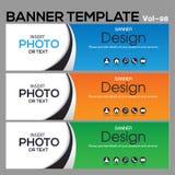 Calibre de bannière pour le designe d'affaires Photographie stock