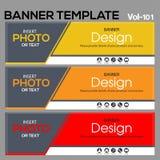 Calibre de bannière pour le designe d'affaires image libre de droits