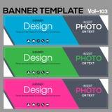 Calibre de bannière pour le designe d'affaires photos stock