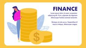 Calibre de bannière de vecteur de finances avec l'espace des textes illustration libre de droits